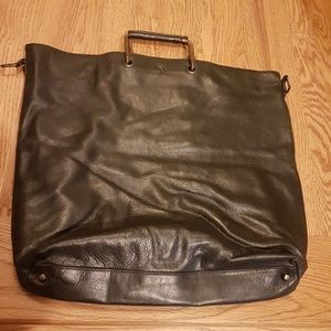 Preloved vintage authentic Burberry leather bag